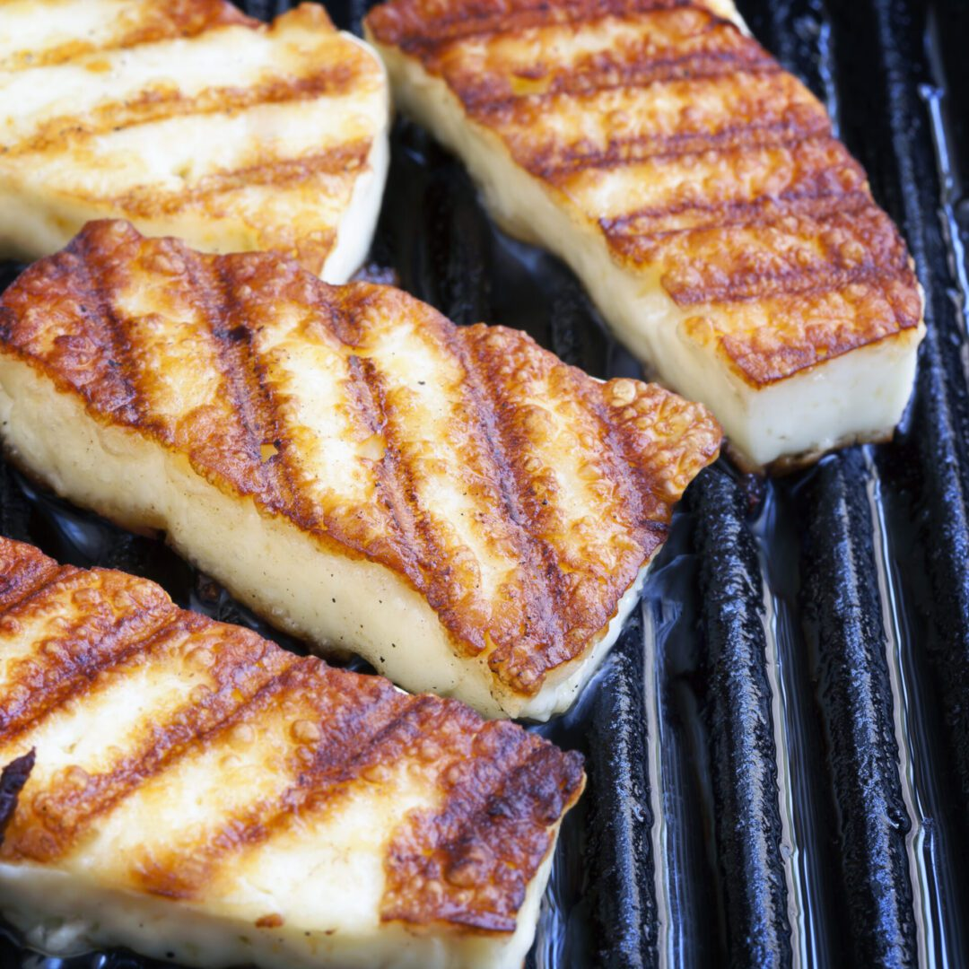 Halloumi,Cheese,Frying,In,Grill,Pan.