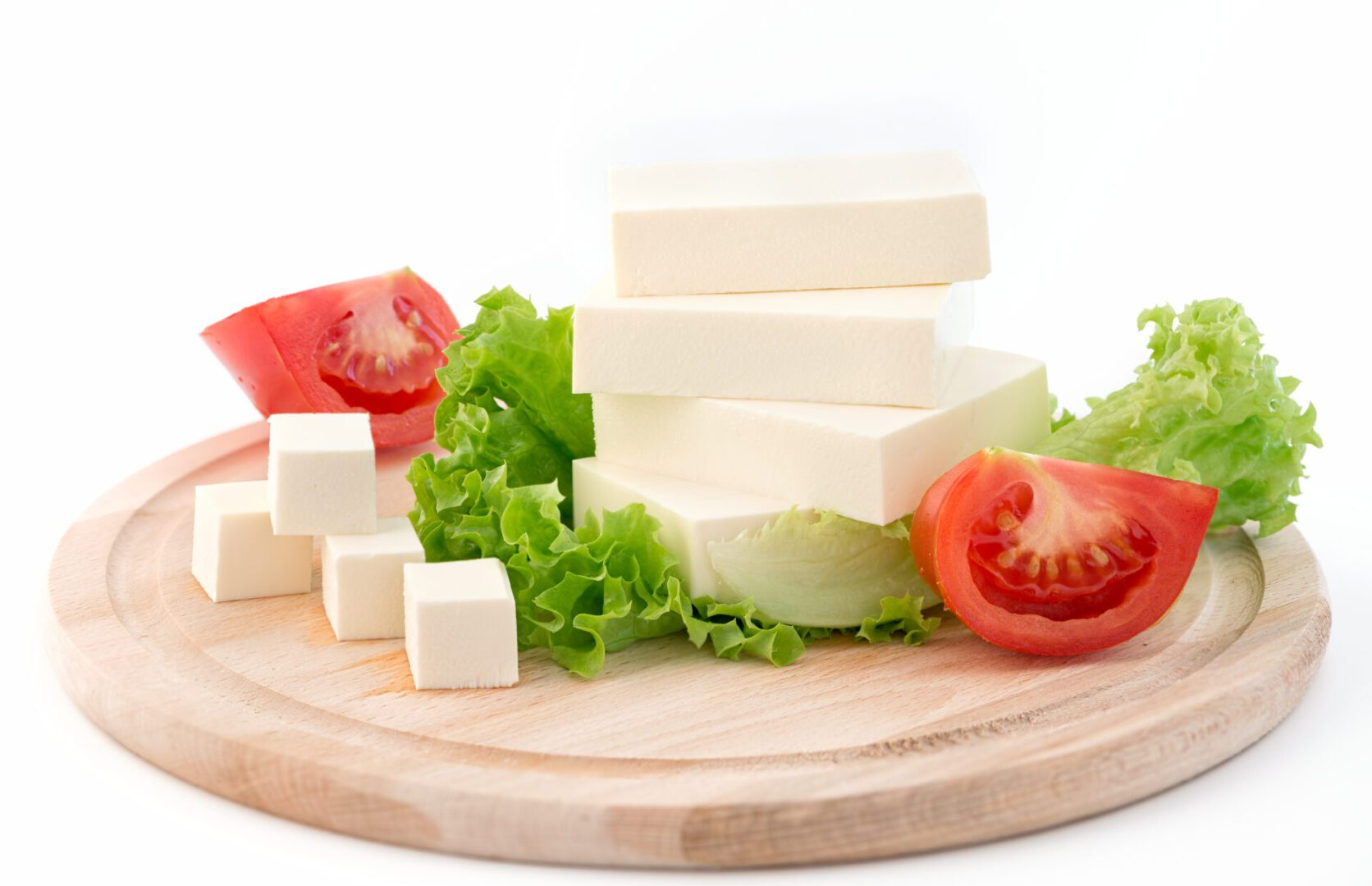 Sliced,Feta,Cheese,With,Salad,And,Tomato